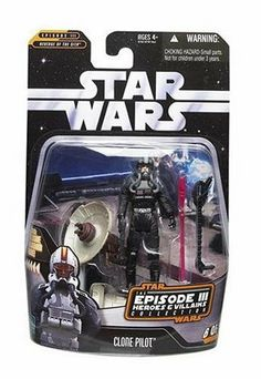 d2be7a405d4 Star Wars Greatest Hits Basic Figure ARC-170 Clone Pilot by Hasbro.  2.60.  Action figure comes with firing cannon and exclusive hologram figure!