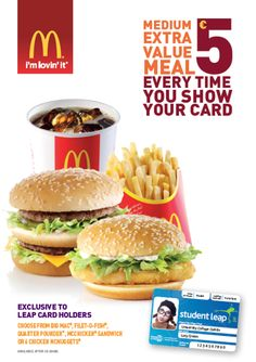 The National Student Travel & Discount Card. Snack Recipes, Snacks, Mcdonalds, Chips, Tasty, Student, Meals, Ethnic Recipes, Food