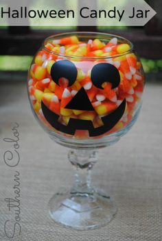 Dollar Store Halloween candy jar OR make it an any time, for any thing jar. Think of the possibilities with all the holidays and special occasions during the year.  Just makes me want to go to the Dollar Store and shop.