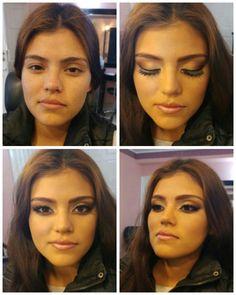 Maquillaje en tonos bronze