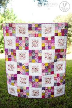 Would be cute to do 16 of each block and use the same 16 fabrics for all the 16 patches and use each fabric once as the center of the other block.