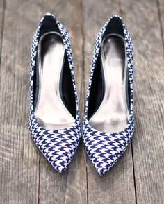 Houndstooth Shoes DIY