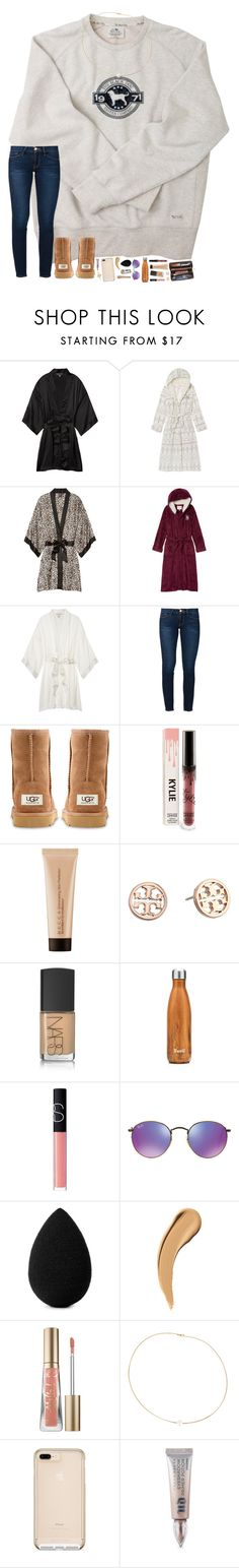 """in the items of this set are some robes that you could use for the last day of my contest!! info in description "" by hopemarlee ❤ liked on Polyvore featuring Victoria's Secret, Frame, UGG Australia, Louis Vuitton, Becca, Tory Burch, NARS Cosmetics, S'well, Ray-Ban and beautyblender"