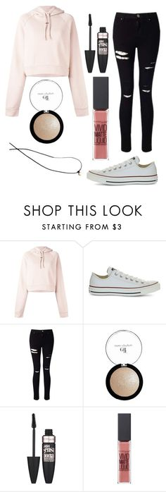 """""""Outfit #37"""" by unicornicamitha on Polyvore featuring Off-White, Converse, Miss Selfridge, e.l.f., Maybelline and Madewell"""