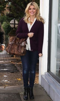 Holly Willoughby Out In London, 2012
