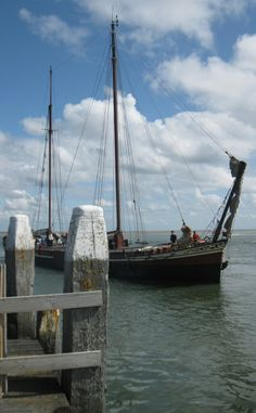 Op weg naar de haven van Vlieland (The Netherlands)