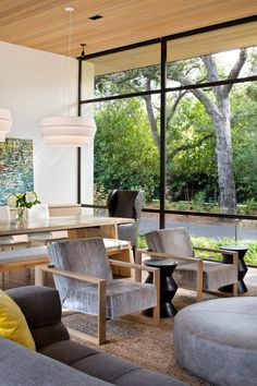 The Atherton Avenue Residence by Arcanum Architecture in Atherton, California is an enormous contemporary home surrounded by nature. California Homes, Atherton California, Northern California, Architect House, Large Homes, Modern House Design, Home Interior Design, Design Interiors, Interiores Design