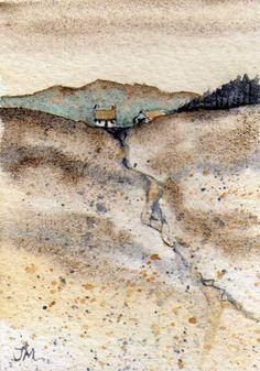 ARTFINDER: Farm by JULIE MORRIS - Farming on the fields of gold.