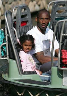 Kobe Bryant with one of his two daughters