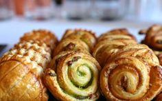 Chaussons aux pommes / Roulés pistache-pécan / Roulés cannelle
