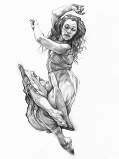 Jump series by Karolina Szymkiewicz, via Behance Body Drawing, Life Drawing, Figure Sketching, Figure Drawing, Pencil Drawings, Art Drawings, Dancing Drawings, Sketch Inspiration, Creative Inspiration