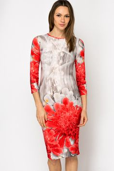 Graphic Fleur Midi Dress