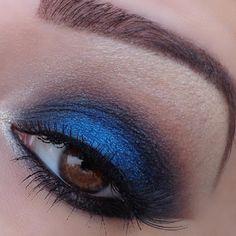 Sapphire eyeshadow.