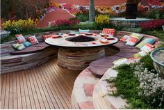 patio ideas | patio-ideas-with-wooden-deck-lighting