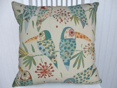 Aqua  Green  Pillow Cover 16x16 Throw by CodyandCooperDesigns, $45.00