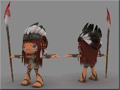 // Cartoon Character Design - Ayasha //