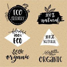 Conjunto de logotípos orgánicos Vector Gratis
