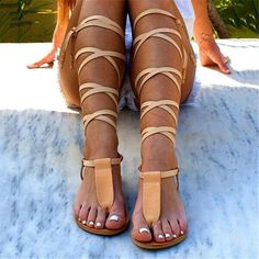 Tie Up Sandals, Sandals For Sale, T Strap Sandals, Women's Shoes Sandals, Sexy Sandals, Women Sandals, Flat Sandals, Trendy Sandals, Tie Shoes