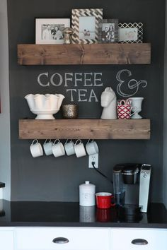 Desk Turned Coffee Bar | http://www.jexshop.com/
