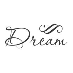 """wall quotes wall decals - """"Dream"""""""