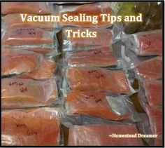 Vacuum sealing is pretty straight forward right? Not exactly. Here are some vacuum sealing tips and tricks that make like MUCH easier! - Vacuum Sealer - Ideas of Vacuum Sealer Freezer Cooking, Freezer Meals, Cooking Tips, Cooking Kale, Cooking Steak, Food Storage, Storage Ideas, Food Saver Vacuum Sealer, Cooking Classes Nyc