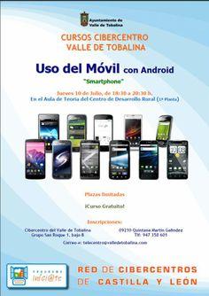 10/7 Curso Uso Móvil Android. Quintana Martín Galíndez 18:30 Aula de Teoría del Centro de Desarrollo Rural