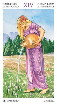 XIV. Temperance - Sorcerers Tarot by Antonella Castelli