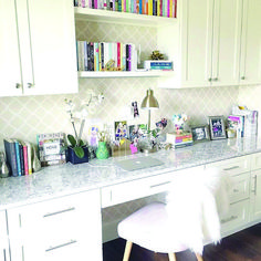 Home Office Cabinet Countertop. Home Office Cabinet Countertop Ideas. Home Office Cabinet Countertop is LG Viatera Quartz Everest Office Nook, Home Office Space, Home Office Design, Home Office Decor, Home Decor, Office Ideas, Small Office, Office Setup, Office Designs