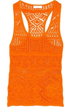 """Emilio Pucci cotton-blend top  50% cotton, 48% viscose, 2% polyester Model is 177cm/ 5'10"""" and is wearing a size Small"""