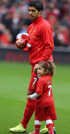 Liverpool FC .. #family he's lil girl is the cutest thing ever❤❤