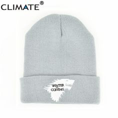 1634149b76b CLIMATE Game Of Thrones Warm Knitted Beanie Skullies House Of Stark Winter  is Coming Dire Wolf