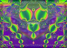 """Jewels Abstract Symmetrical"" by Renee Lozen, Palm Harbor // fun 3D colorful venture! // Imagekind.com -- Buy stunning, museum-quality fine art prints, framed prints, and canvas prints directly from independent working artists and photographers."
