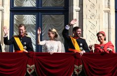 Grand Duchess Maria Teresa Of Luxembourg (L-R)  Grand Duke Henri of Luxembourg, Princess Stephanie of Luxembourg, Prince Guillaume Of Luxembourg and Grand Duchess Maria Teresa of Luxembourg wave to the crowds from the balcony of the Grand-Ducal Palace the wedding ceremony of Prince Guillaume Of Luxembourg and Princess Stephanie of Luxembourg at the Cathedral of our Lady of Luxembourg on October 20, 2012 in Luxembourg, Luxembourg.