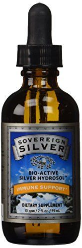 Natural Immunogenics Sovereign Bio-Active Hydrosol for Immune Support, 10 ppm, 2 oz Dropper, Silver Sovereign Silver, Natural Home Remedies, How To Stay Healthy, Whiskey Bottle, Drinks, Interesting Stuff, Amazon, Personal Care, Health