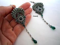 Náušnice - Zelená múza - 5880511_