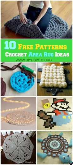 16 DIY Crochet Area Rug Ideas, All with Free Patterns... via @diyhowto