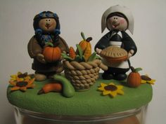 Thanksgiving candle topper.