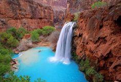 Havasu Falls, Grand Canyon, Arizona, USA  In Grand Canyon National Park is this majestic waterfall.