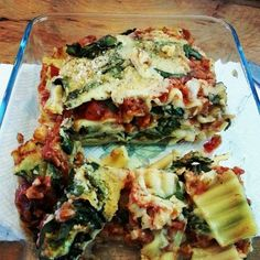 """Packed this lasagna for #lunch at work - a new recipe with TVP bolognese and cauliflower alfredo sauce- the sauce recipe courtesy of @veganricha. Yum!…"""