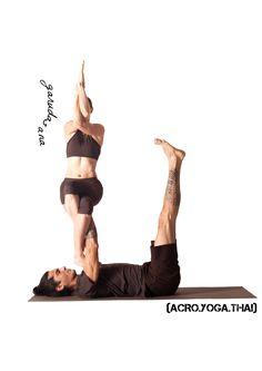 (ACRO.YOGA.THAI) Acroyoga poses from our book :) yoga asana: garudasana