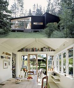 10 Spaces where indoor and outdoor merge into something enigmatic. I got a very nice post from Colleen in Canada where she asked m. House Built, Gazebo, Indoor, Outdoor Structures, Building, Outdoor Decor, Container Homes, Spaces, Tiny Houses