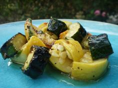 Grilled and Marinated Zucchini and Yellow Squash Recipe
