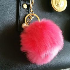 SALEHot  Pink Pom Pom Bag Charm Adorable bag charm. Gives a pop of color and design to new and old bags. Absolutely beautiful! If fur gets messy, all you have to do is blast it with cold air from you hair dryer!!! Accessories