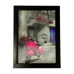 Pink Vespa; These three dimensional pictures with excellent framing, are amazing. You have to see one to fully appreciate just how unusual and beautiful they are. As you move, they move, like they are alive.