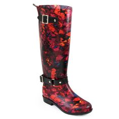 Floral Pull On Tall Rainboot