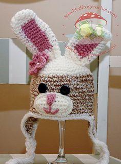 CROCHET PATTERN Instant Download Sock Bunny by speckledfrogcrochet, $5.99
