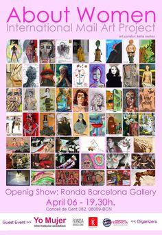 #SaveTheDate >> Todos invitados!! :) Próxima Inauguración del Proyecto Internacional de Arte Postal sobre la Mujer ABOUT WOMEN en Barcelona. Evento Invitado: YO MUJER, cuya convocatoria está abierta. Comisaria: Katia Muñoz.  More info: katiamunyoz@gmail.com  #Aboutwomen In #Bcn #opencall Guest event #YoMujer for #artists April/ #Barcelona #mailart #mujeres