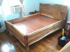 Log Bedroom Furniture, Real Wood Furniture, Diy Furniture Plans, Diy Furniture Projects, Wood Bed Design, Bed Frame Design, Bedroom Bed Design, Platform Bed Designs, Wood Platform Bed