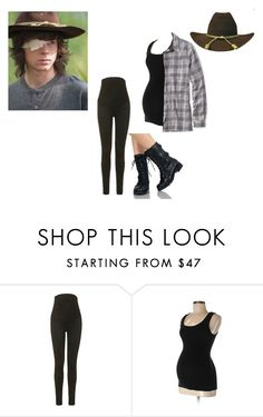 """""i stole your hat and flannel"" // Justine Dixon X Carl Grimes"" by j-j-fandoms ❤ liked on Polyvore featuring Topshop, Liz Lange and L.L.Bean"