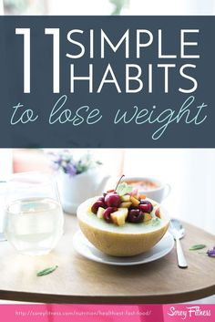 Simple healthy habits can help you lose weight without doing extreme workouts, cleanses or crash diets. Plus how to stick to those habits for lasting weight loss and a healthier life! Nutrition Plans, Nutrition Tips, Healthy Nutrition, Nutrition Classes, Nutrition Education, Healthy Detox, Healthy Drinks, Healthy Recipes, Healthy Weight